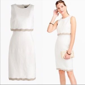 J. Crew Going Places white linen popover dress 8
